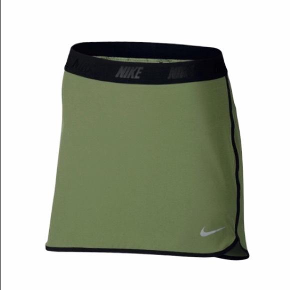 Nike Olive Green Mini Tennis Skirt Golf Skort   M